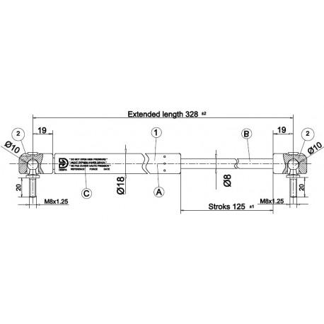 Písty CKT 08 - 280N pro  model CKT Work Ford do 2012