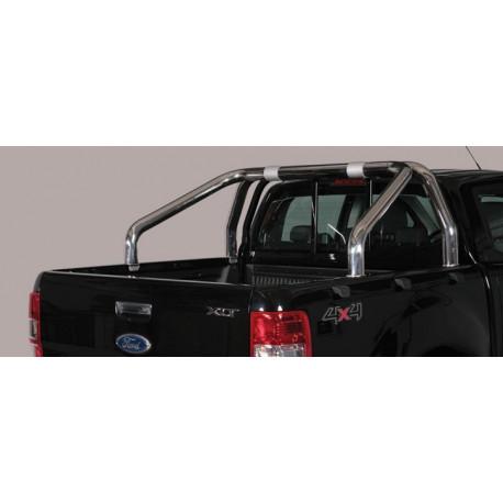 Nerezový rám korby single průměr 76 mm - Ford Ranger 16- FO 16 RLSS/2295/IX
