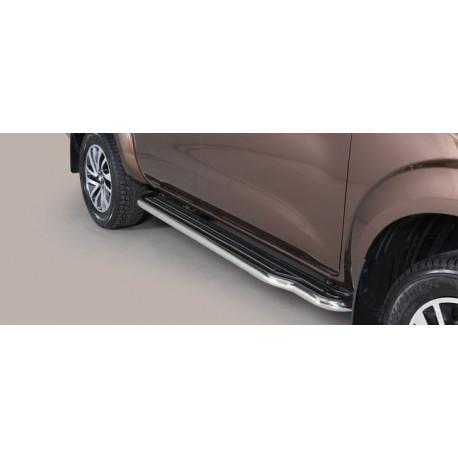 Nerezové boční nášlapy průměr 50 mm -  Nissan NP300 Navara NI 16 P/400/IX