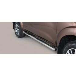 Nerezové boční nášlapy průměr 76 mm -  Nissan NP300 Navara NI 16 GP/400/IX