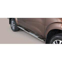 Nerezové boční nášlapy oválné - Nissan NP300 Navara NI 16 DSP/400/IX