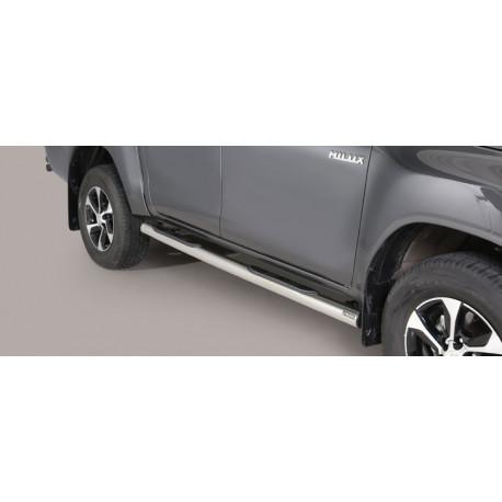 Nerezové boční nášlapy průměr 76 mm -  Toyota Hilux 16+ TO 16 GP/410/IX