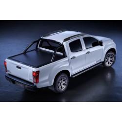 Mountain Top Aluminium Roll cover, black Toyota Hilux Extra Cab
