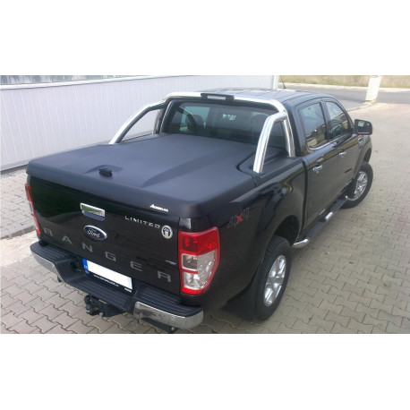 Aeroklas Galaxy cover, for Ford Ranger OE Styling bar, black grain ABS surface