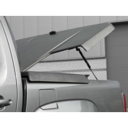 Pro-Form VW Amarok Sportlid II cover, for VW OE Styling bar, black grain ABS surface