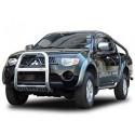 """A Bar + Plate Guard Stainless Steel 3"""" for Mitsubishi L200.MK.5 (Triton) - přední ochranný rám z nerezu"""