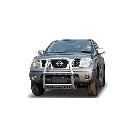"""A Bar + Plate Guard Stainless Steel 3"""" for Nissan NavaraD40/Pathfinder - přední ochranný rám z nerezu"""