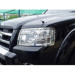 Head Light Guards Stainless Steel for Mitsubishi L200.MK.4 old