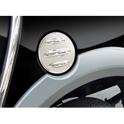 Fuel Cap Cover Stainless Steel for Mitsubishi L200.MK.5 (Triton) Dbl-Cab.