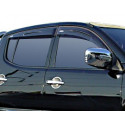 Wind Deflectors Slim-Line, Light Smoke for Mitsubishi L200.MK.5 (Triton) Set of 4
