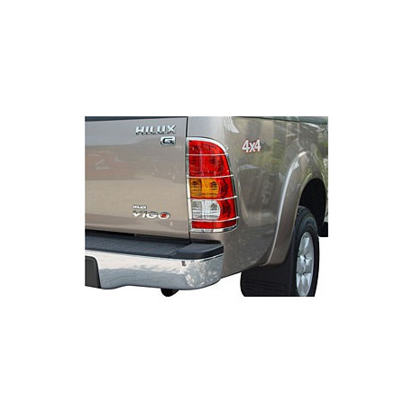 Tail Light Guards Stainless Steel for Toyota Vigo-hilux