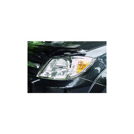 Nerezové kryty předních světel Toyota Vigo - Hilux
