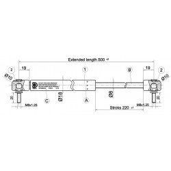 Písty CKT 06 - 300N pro  model CKT Sport